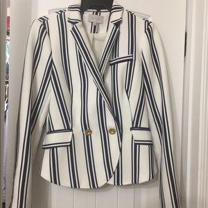 NWT  1.state striped shrunken blazer